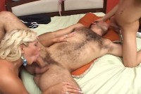 When a horny transexual beauty joins a married couple in bed a wife steps back to watch her beloved h