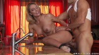Naughty Milf Seduces A Guy In Her Kitchen