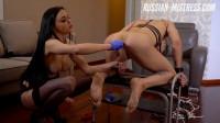Russian Mistress Emily Black Strap