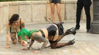 Two Slutty Whores Disgraced in Spanish Extreme Public Orgy! - steve, disgrace, scene, dirty, getting