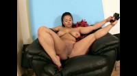 Nasty big ass ebony leila showing herself at floor
