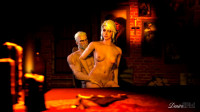 Ciri Riding Geralt On Chair Loop — HD 720p