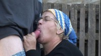 Fat granny fucked in the backyard