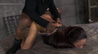 Latina Lyla Storm Bed Bound in Leather Straightjacket...(Sep 2014)