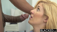 Blonde Stylish Hottie With Two Black Guys