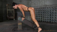 Fit MILF India Summer shackled down and used hard by two cocks at once, massive orgasms