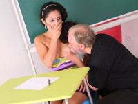 Download Lara tries to learn the study material with her teacher but realizes