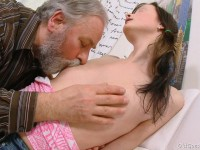 Download Jenya adores the attention she gets from this dirty old man. He ends up fucking this young babe.