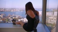 new video gag heels (Windowsill Elegance).