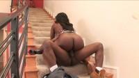 Ebony BBW fucks and sucks