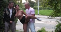 Double Penetration On The Street