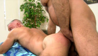 Burly men like big raw cocks