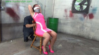 Hunterslair - Faython Fire - Brutaly tied to her chair with rope and tape