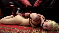 Vina - Tight elbow bondage hogtie
