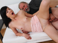 Download Alisa gets to learn how top suck cock properly from her old guy