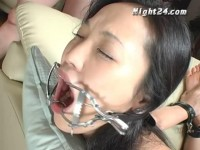 Open mouth for sucking tied asian