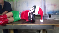 Santa's naughty little elf tied down & punished with made orgasms
