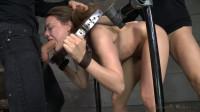 SexuallyBroken - Chanel Preston stuck in stocks and worked over