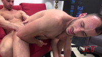Lustful boy ridden on a big dick