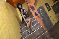 Black Angelike Done In Glasses And Heels