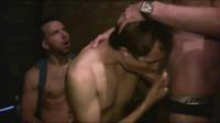 Raw gangbang at sex club