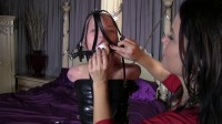 Super bondage, domination and mummification for young girl