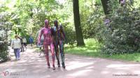 Multilayer zentai suits outdoor