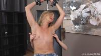 Ticklish blonde in socks-tickle torture women