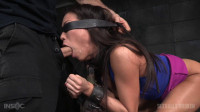 Kalina Ryu shackled down blindfolded and fucked without mercy