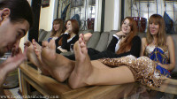 Goddess Lydia & Goddess Victoria — Lick Our Dirty, Smelly Feet, Bitch!