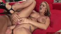 Busty Trina Rides The Pole And Goes Anal