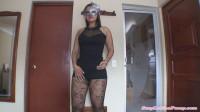 big booty milf latina in black fishnet