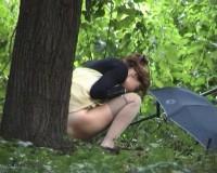 pee outdoors