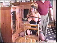 Bound and gagged by the buxom beauty