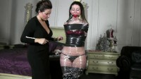 Extreme bondage and torture for horny Brunette