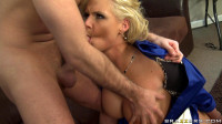 Teacher Asks A Blonde Lady To Give Him A Preview (face, tit, orgy, sexy)