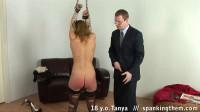 Beautiful college girl spanked