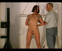 Erotic and extreme bondage movies featuring BDSM slave girls in hot metal bondage