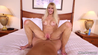 Cait — Busty blonde cougar does first porn FullHD 1080p