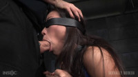 Asian fuck doll Kalina Ryu shackled down blindfolded
