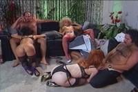 Orgy through a pornstar