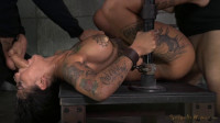winner Bonnie Rotten shackled in strict device bondage