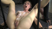 Two blonde pixies Odette Delacroix and Emma Haize tag teamed by cock