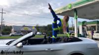 Anna - Short flexible break at the gas station