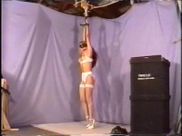 Shes seeing no chance to escape or just loosen the rope