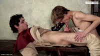 Blond Cock-Bitch Gets Both Ends Filled By A Hero's Big Weapon!