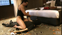 Miss Monrow Dominating a short hotel manager