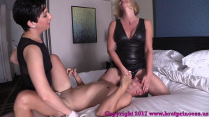 Husband Fucked By Wife And Cuck Sitter [2018,Brianna,Femdom,Pegging,Ass Fucking][Eng]