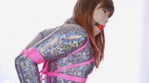 RestrictedSenses - Mina - Sparkly Bodysuit Hogtie Fail [Eng]
