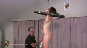 Hard bondage, spanking, strappado and torture for naked bitch [2020][Eng]